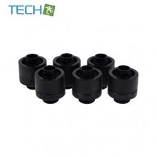 Alphacool Eiszapfen 16/10mm compression fitting G1/4 - deep black sixpack