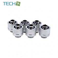 Alphacool Eiszapfen 16/10mm compression fitting G1/4 - chrome sixpack