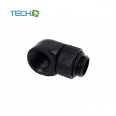 Alphacool Eiszapfen L-connector rotatable G1/4 outer thread to G1/4 inner thread - deep black