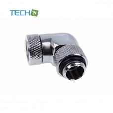 Alphacool Eiszapfen angled adaptor 90° rotatable G1/4 outer thread to G1/4 inner thread - chrome