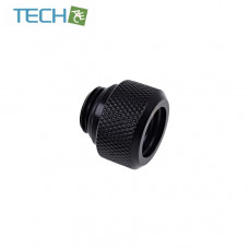Alphacool Eiszapfen 13mm HardTube compression fitting G1/4 for plexi- brass tubes (rigid or hard tubes) - knurled - deep black