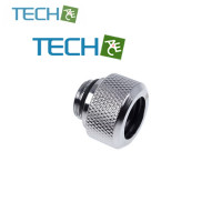 Alphacool Eiszapfen 13mm HardTube compression fitting G1/4  knurled - chrome