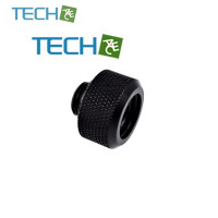 Alphacool Eiszapfen 16mm HardTube compression fitting G1/4 - knurled - deep black