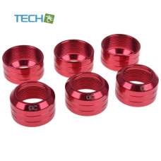 Alphacool Eiszapfen 16mm HardTube union nut modding pack 6 - red