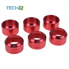 Alphacool Eiszapfen 13mm HardTube union nut modding pack 6 - red