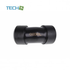 Alphacool Eiszapfen 16mm HardTube compression fitting 45° L-connector - knurled - deep black