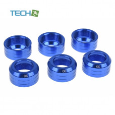 Alphacool Eiszapfen 13mm HardTube union nut modding pack 6 - blue
