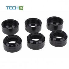 Alphacool Eiszapfen 13mm HardTube union nut modding pack 6 - deep black
