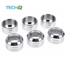 Alphacool Eiszapfen 13mm HardTube union nut modding pack 6 - silver polished