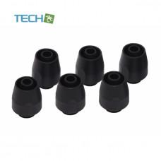 Alphacool HF compression fitting TPV - straight - black - 6pcs kit