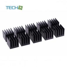 Alphacool GPU Ram Alu Heatsinks 15x15mm - black 10 pcs