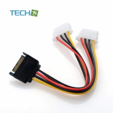 1pcs Power Cord Connector SATA to IDE Power Cable Serial Power Cord Sata Line Reverse Line 15pin Male to Big 4pin