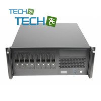 CP-445-R8 - 8 slot hot-swap 4U chassis with integrated display