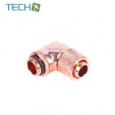Alphacool 13/10 compression fitting 90° revolvable G1/4 - Shiny Copper