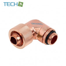 Alphacool 16/10 compression fitting 90° revolvable G1/4'' - Shiny Copper