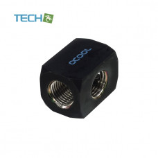 Alphacool HF connection terminal TEE T-piece round, G1/4 - deep black