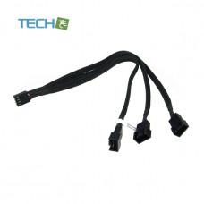 Phobya Y-cable 4Pin PWM to 3x 4Pin PWM 30cm - black