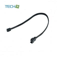 Phobya adaptor 4-Pin PWM plug to 3-Pin (socket) 30cm - black