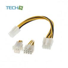 ATX 4-pin 12V connector to EPS 8-pin 12V connector