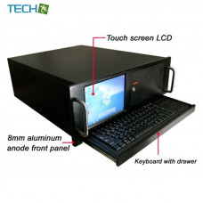 CP-N475LTKB - Industrial 4U chassis with 8 Inch touch display and keyboard