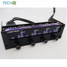 Lamptron FC6 - Fan Controller 20W x 4 Channels with Changeable Color Display