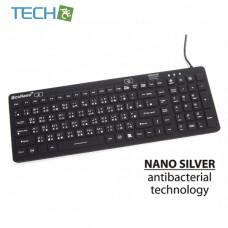 iEcoNano iM-IKB-106BL-Black - Black waterproofed IP68 standard 106 keys keyboard