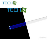 Alphacool HardTube 13/10mm acrylic clear UV-blue 40cm