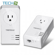 Trendnet TPL-421E2K - Powerline 1200 AV2 Adapter Kit with Built-in Outlet