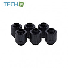 Alphacool Eiszapfen 13/10mm compression fitting G1/4  deep black sixpack