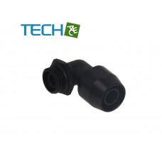 Alphacool HF compression fitting TPV Metall - 90° rotatable 12,7/6,7mm - Black