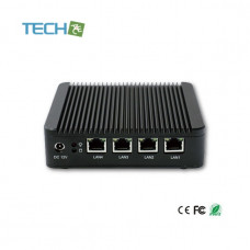 iBOX-501N10P Quad core mini embedded computer router with 4x Gigabit LAN
