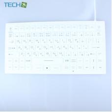 iEcoNano iM-IKB720-BK-White - Waterproof Industrial & Medical Keyboard with Push sensor Mouse