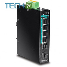 Trendnet TI-PG541 - 5-Port Hardened Industrial Gigabit PoE+ DIN-Rail Switch