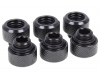 Alphacool Eiszapfen 13mm HardTube compression fitting G1/4 for plexi- brass (rigid or hard) tubes - knurled - deep black sixpack