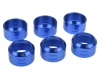 Alphacool Eiszapfen 16mm HardTube union nut modding pack 6 - blue