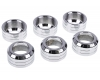 Alphacool Eiszapfen 16mm HardTube union nut modding pack 6 - silver polished